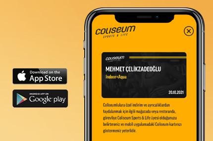 COLISEUM CARD ŞİMDİ CEBİNDE!